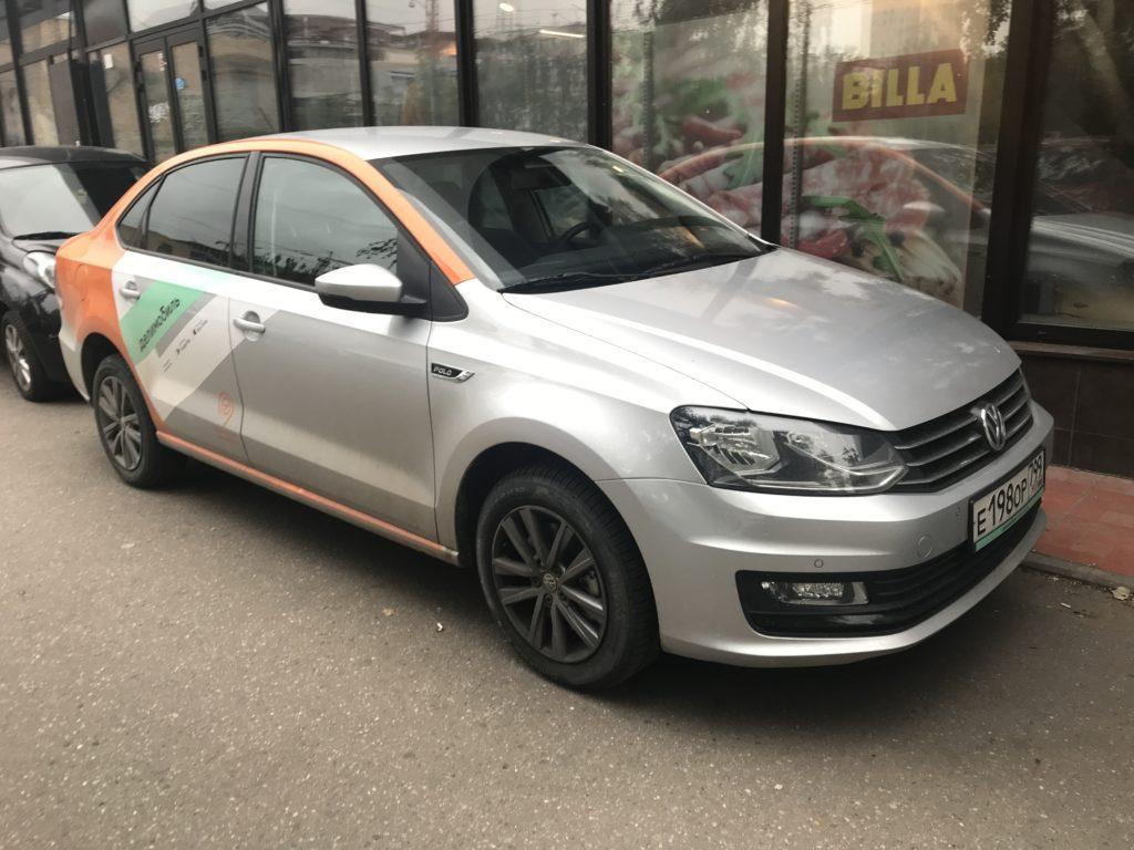 Delimobil в Королёве - автомобиль Volkswagen Polo