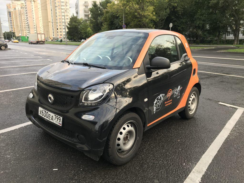 Купе Smart ForTwo в каршеринге Matreshcar