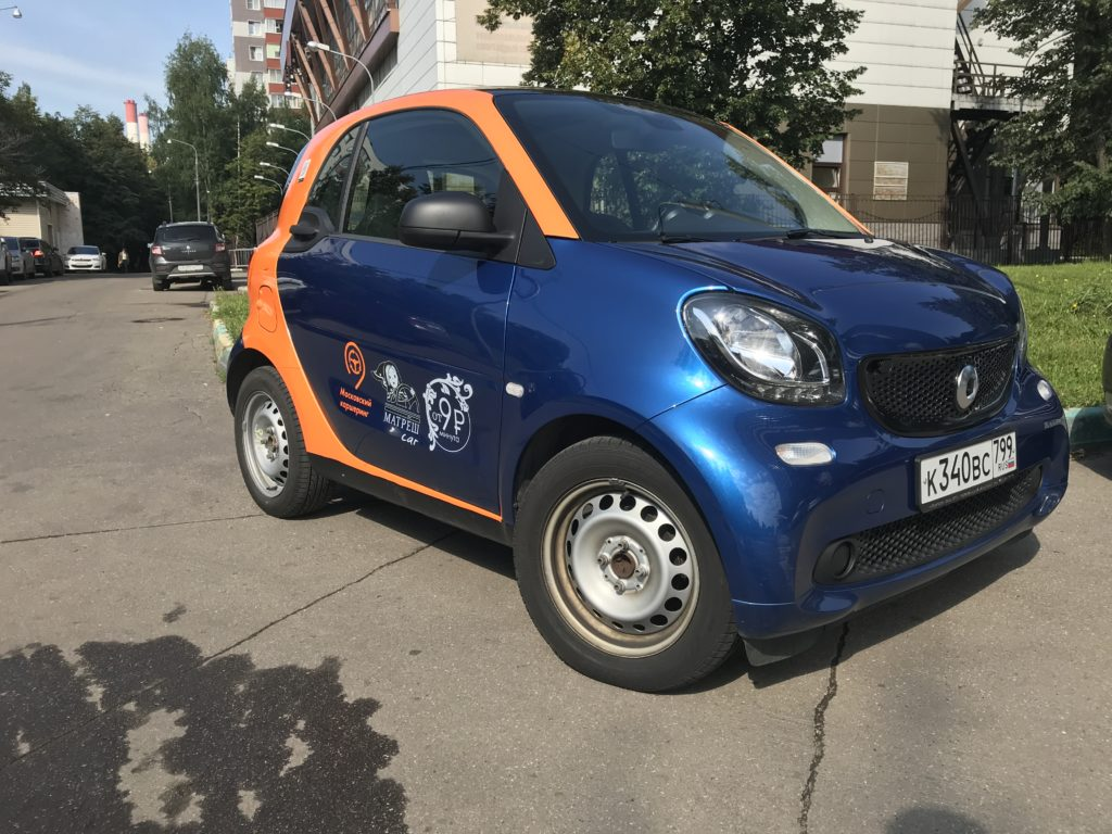Smart ForTwo оператора Matreshcar в Мытищах