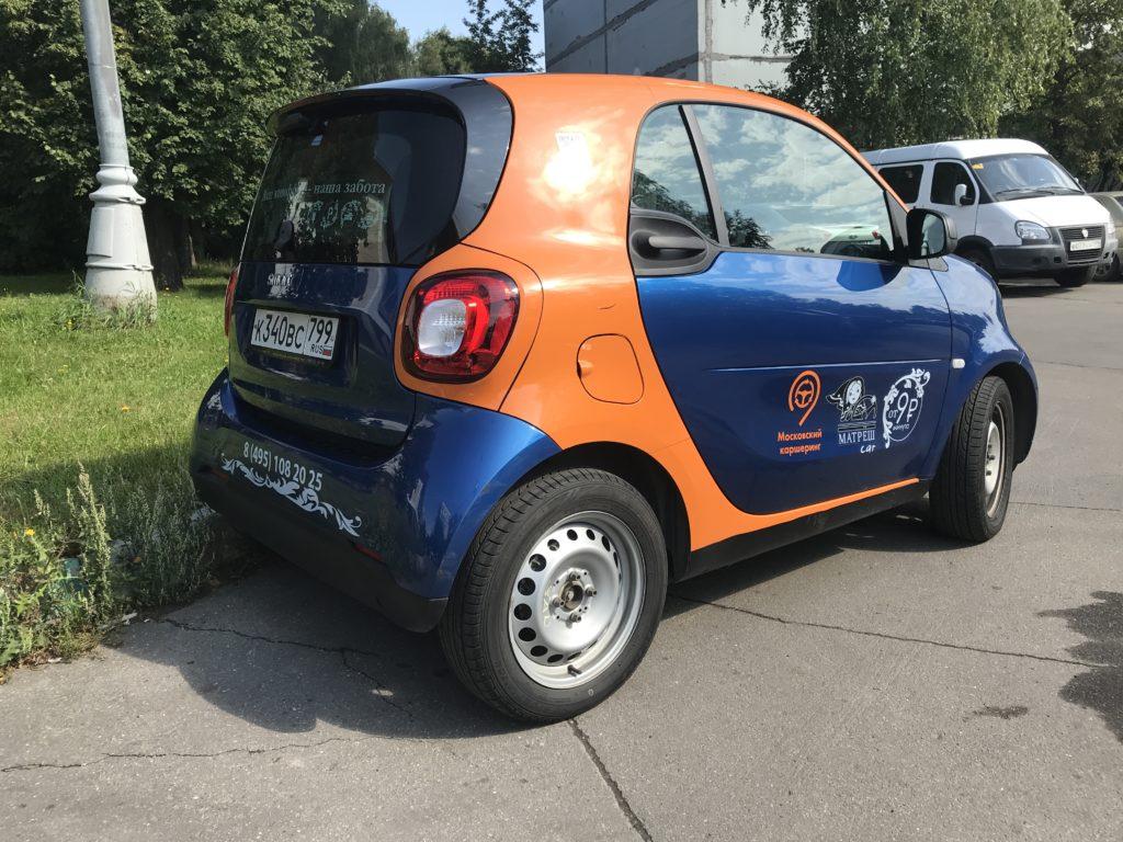 Санкт-Петербург, Smart ForTwo в каршеринге Матрешка
