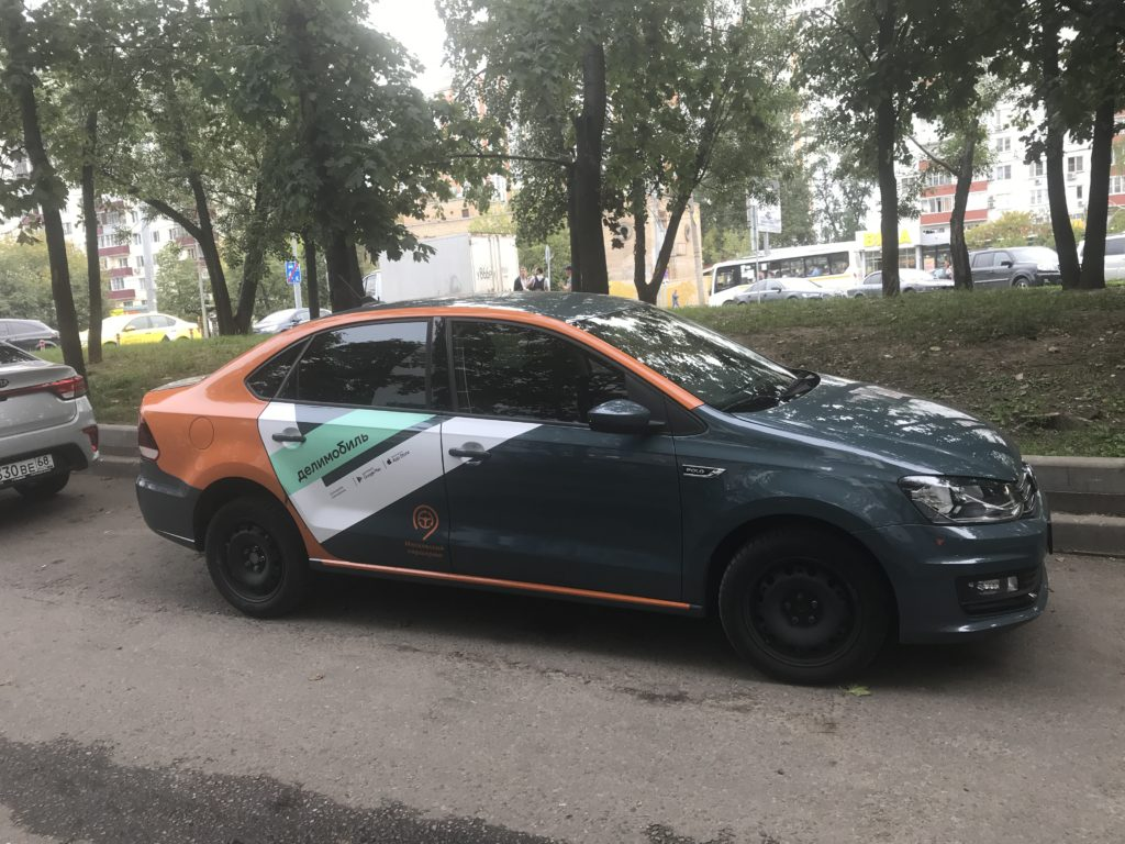 Volkswagen Polo оператора Делимобиль в Красноярске