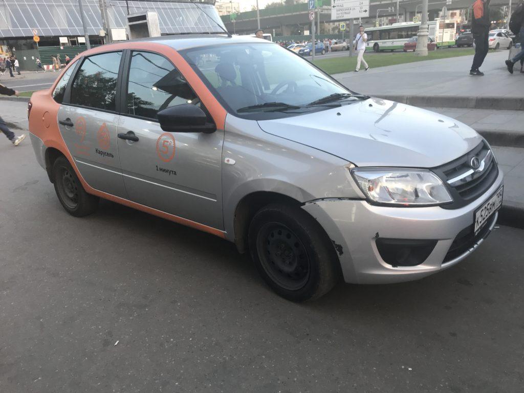 Lada Granta оператора каршеринга Карусель в Подольске