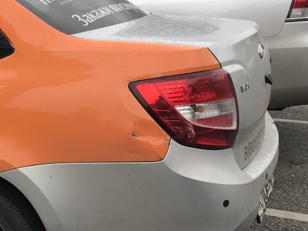 Lada Granta с повреждениями