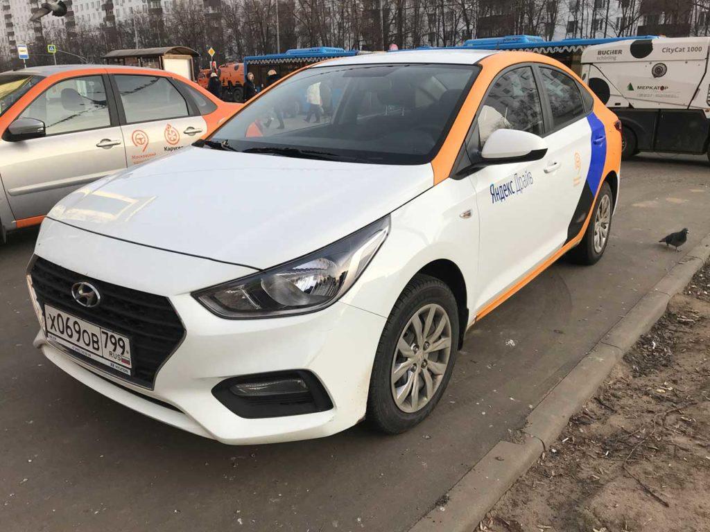 Hyundai Solaris от Яндекс Драйв в Санкт-Петербурге