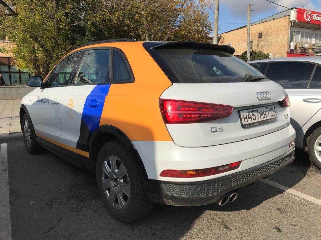 Audi Q3 в каршеринге Яндекс Драйв
