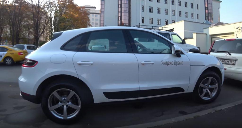 Порше Макан в каршеринге Яндекс